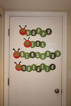 Very Hungry Caterpillar Birthday Banner
