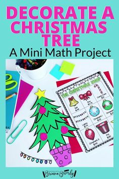 Are you looking for a fun. standards-based math project for your 2nd-3rd grade students to complete this holiday season? This Christmas Tree math activity is the perfect mini math project to use in the classroom during Christmas or through the Winter season. This project reviews money, addition, and place value skills. Students will shop from a menu to purchase pieces they need to decorate their Christmas tree. Math Crafts, Math Projects, Subtraction Activities, Math Activities, Christmas Math, Christmas Tree, Teaching Addition, Math Enrichment, Math Practices