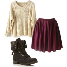 Cute and simple. Would go really well with some oxfords or wedge Chukkas I Love Fashion, Girl Fashion, Winter Fashion, Fashion Outfits, Womens Fashion, Outfits For Teens, Cute Outfits, Kinds Of Clothes, Cute Skirts