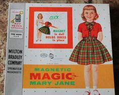Vintage Magnetic Magic Mary Jane paper doll set
