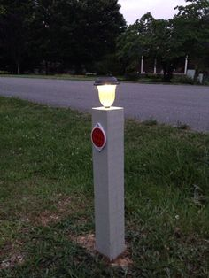 Driveway marker at night!
