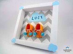 Quadrinho de Maternidade da Lucy Samurai, Origami 3d, Toy Chest, Paper Crafts, Toys, Frame, Album, Home Decor, Paper Frames