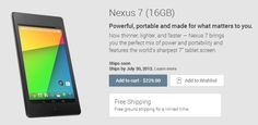 The new Nexus 7 tablet is now available in Google Play store http://cnet.co/1c9yhmw