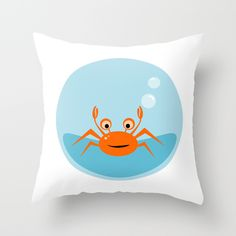 Little crab throw pillow on society6 by Limitation Free