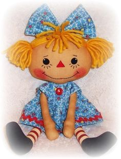 Rag Doll Pattern, PDF Rag Doll Sewing Pattern