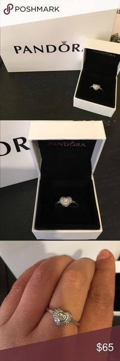 Pandora In My Heart ring New never used comes with box. Any questions pls ask this ring will be retiring Pandora Jewelry Rings