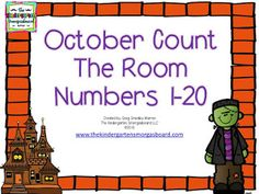 Numbers and counting!  FREE differentiated Halloween counting activity!   Kindergarten counting.  Halloween math!