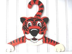 Vintage tiger clothes hanger child nursery Clemson by southcentric, $14.00