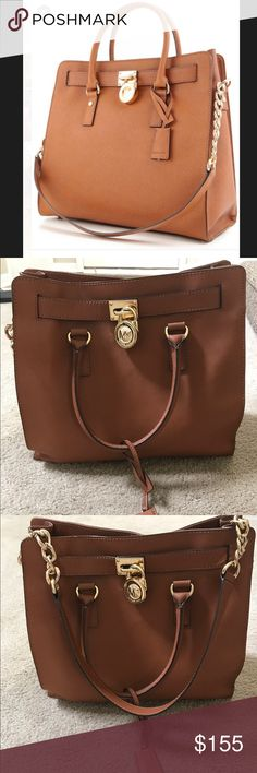 Michael Kors Cognac Handbag These darling Michael Kors bag is still in great condition! It has been used but still looks great on the inside and out and comes from a smoke free home :) MICHAEL Michael Kors Bags Shoulder Bags