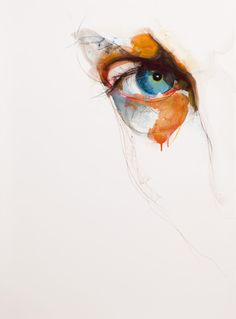 "Saatchi Online Artist: Kelly Jayne; Paint, 2011, Mixed Media ""Gaze"""