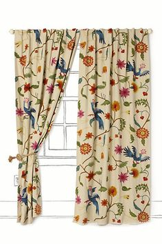 Would never pay this for curtains, but pretty pretty.  Maybe I can find something like it.