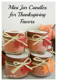 Thanksgiving Candle Favors from Dollar Store Items
