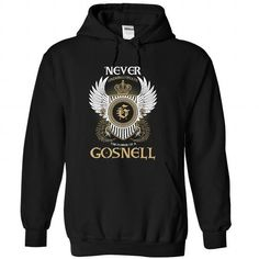 (Never001) GOSNELL - #gift for guys #baby gift. BUY TODAY AND SAVE => https://www.sunfrog.com/Names/Never001-GOSNELL-aztkshyijn-Black-53725604-Hoodie.html?68278