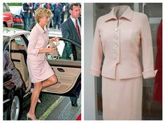 This blush pink day suit, worn to a children's bravery awards at the Savoy Hotel in 1997, is a beautiful example of how Diana had pared down her style post-divorce. Its hip-skimming jacket, flatter…