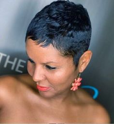 """The short cut called """"pixie cut"""" is more and more popular among people and the street. To know everything about this trendy haircut, we asked Patrick Lagré, artistic director of the Toni & Guy hair salons . Short Black Hairstyles, Pixie Hairstyles, Short Hair Cuts, Pixie Cuts, Black Pixie Haircut, Pixie Haircuts, Curly Hair Styles, Natural Hair Styles, The Embrace"""