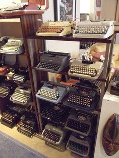 Typewriter display.