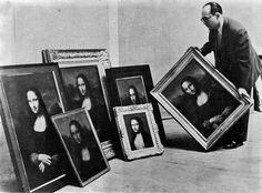Guy Isnard curating an exhibition of fakes at the Grand Palais, Paris, 1955