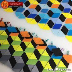 Tumbling Blocks Quilt Piecing