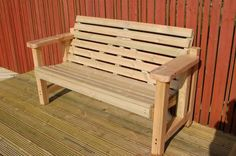 Our Woodland Furniture range! Beautifully crafted from UK timber!!  http://www.sustainable-furniture.co.uk/garden-furniture/patio-furniture/garden-benches-garden-seats/luxury-woodland-garden-bench-fowey-reclined/prod_1370.html