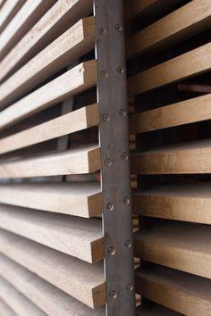 Деревянная решетка-жалюзи на окна
