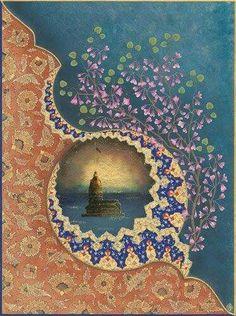 Arabesque, Illumination Art, Islamic Paintings, Islamic Patterns, Turkish Art, Arabic Art, Islamic Art Calligraphy, Mandala Art, Pattern Art