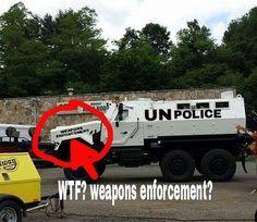 U.N. 'weapons enforcement' vehicle spotted in U.S. — Gun confiscations coming?  6/29/14