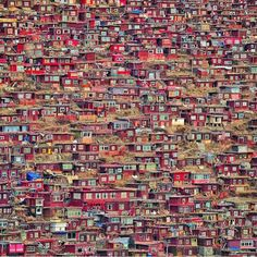 A hill of houses China