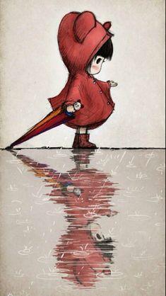 | hinh anh anime -Đáng yêu Kawaii phim hoạt hình minh họa của cô gái trong màu đỏ v – 42010 tải về | Ảnh đẹp 1 tấm