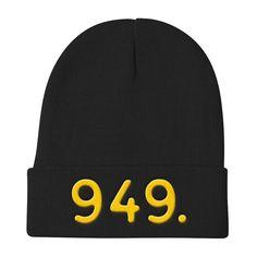 California 949 Area Code - Knit Beanie