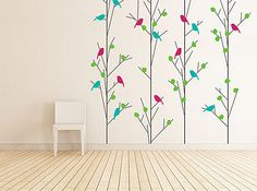 English Summer Trees Wall Sticker