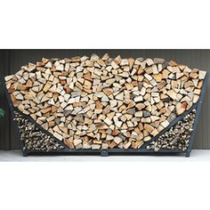 10' Slanted Firewood Rack