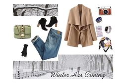 """""""anna on snow"""" by arianipermana on Polyvore featuring American Eagle Outfitters, Valentino, Casetify, Lomography, M&Co, women's clothing, women's fashion, women, female and woman"""