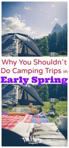 Why You Shouldn't Do Camping Trips in Early Spring. Camping tips and Ideas. Hacks for camping with the kids. The Flying Couponer Family. Camping First Aid Kit, Camping Uk, Best Tents For Camping, Camping With Kids, Family Camping, Camping Tips, Travel With Kids, Outdoor Camping, Family Travel