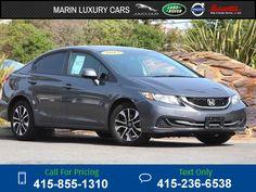 2013 Honda Civic EX  49k miles $14,891 49199 miles 415-855-1310 Transmission: Automatic  #Honda #Civic EX #used #cars #MarinLuxuryCars #CorteMadera #CA #tapcars