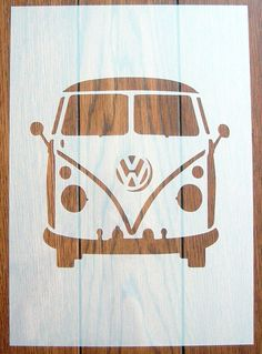 Vw Camper Van Front Stencil Mask Reusable Mylar Sheet For Arts & Crafts Wallpaper Stencil, Stencil Art, Stencils, Kombi Pick Up, Vw T1, Volkswagen Beetles, Volkswagen Bus, Bus Art, Vw Camper