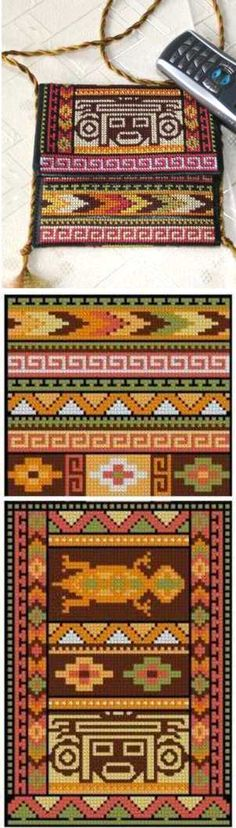 Advanced Embroidery Designs - Southwestern Indian Motif Purse Set