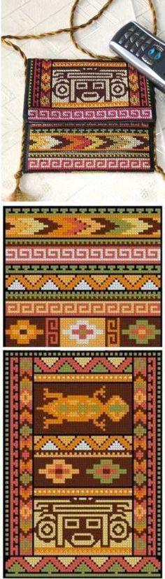 Advanced Embroidery Designs - Southwestern Indian Motif Purse Set