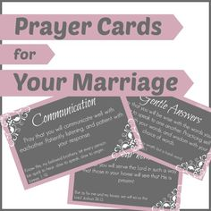 Prayer Cards for Your Marriage |