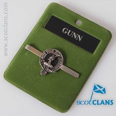 Gunn Clan Crest Tie Slide. Free worldwide shipping available