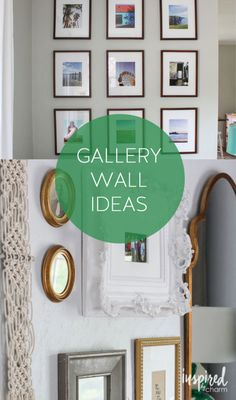 Collection of ideas for styling different / unique gallery walls throughout your home.