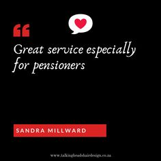 #customerlove #customerfeedback #strand #talkingheads #greatserviceforpensioners #weloveit Great service - especially for pensioners.    Talking Heads Hair Design | Strand | 021 854 4310 | 071 604 0266 | 082 879 1467 info@talkingheadsheairdesign.co.za | www.talkingheadshairdesign.co.za  #modernperm #mukproducts #hairdresser #style #hairporn #haircolor #hairoftheday #hairinspiration #talkingheadshairdesign #strand #talkingheads #headsofhairthatspeakvolumes #hairsalonfortalkingheads Perm, Hair Designs, Hairdresser, Haircolor, Hair Inspiration, Style, Hair Color, Hair Models, Perming Hair Style