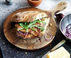 Rindsschnitzel-Sandwich