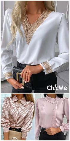 Office Outfits Women, Business Casual Outfits, Classy Outfits, Chic Outfits, Trendy Outfits, Fashion Outfits, Girls Fashion Clothes, Modest Fashion, Thrift Store Outfits