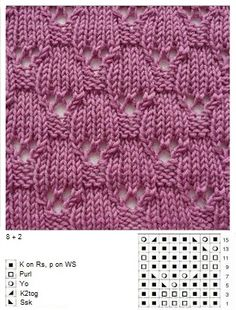 Knit lace pattern