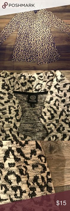Bobeau jacket animal print style Animal print with pockets bobeau Jackets & Coats