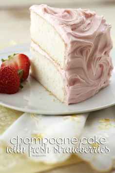 This champagne cake recipe uses fresh strawberries and will be your go-to dessert for birthday parties, holidays, and special occasions.