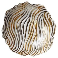 Safari Glass Zebra Bowl, Small