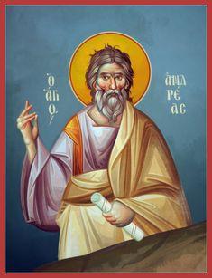 Apostle Andrew | Byzantine Iconography Workshop - kopsidas.com