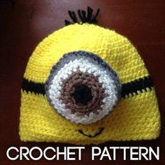 e5370bc87bb Crochet Minion Hat for my friend Cheryl  D Easy Crochet Patterns