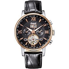 Ingersoll Gran Cañón Negro y Rose Automático Día / Fecha reloj